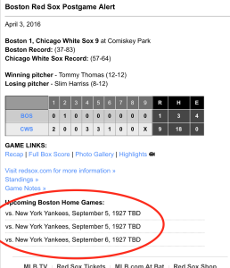 Red Sox Time Travel